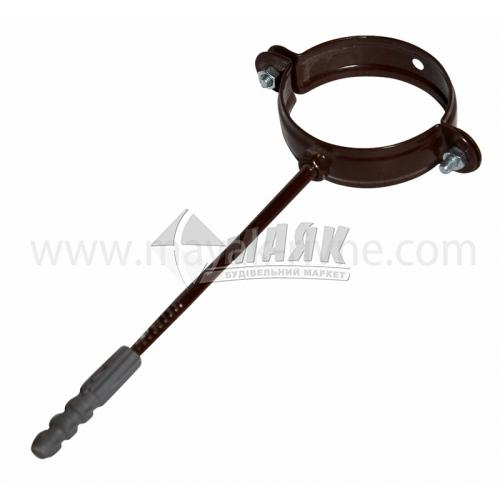 Хомут труби металевий Profil 100 мм 90/75 коричневий
