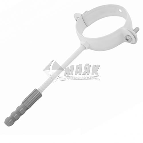 Хомут труби металевий Profil 220 мм 130/100 білий