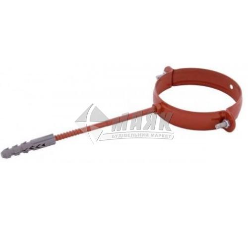 Хомут труби металевий Profil 220 мм 130/100 цегляний
