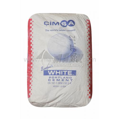 Цемент будівельний Cimsa (Турція) 25 кг білий