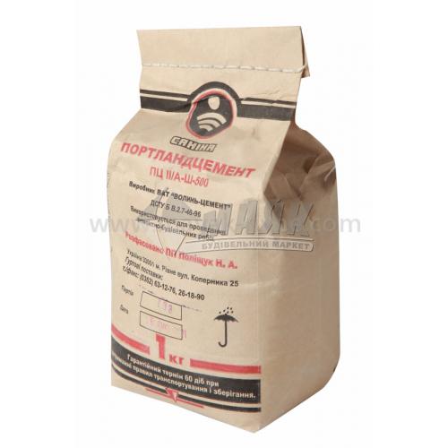 Цемент будівельний ПЦ ІІ/А-Ш-500 (Здолбунів) 1 кг сірий