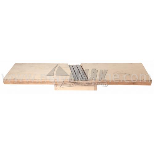Шатківниця дерев'яна для капусти 3 ножа з коробом