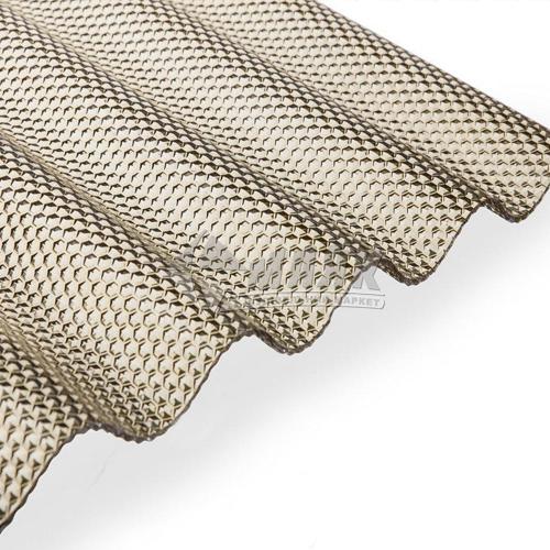 Лист ПВХ Salux Prisma 2000×1030×2,5 мм бронзова хвиля