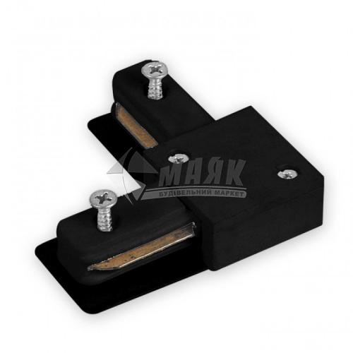 Конектор шинопроводу трекових свiтильникiв Feron LD1101 кутовий чорний