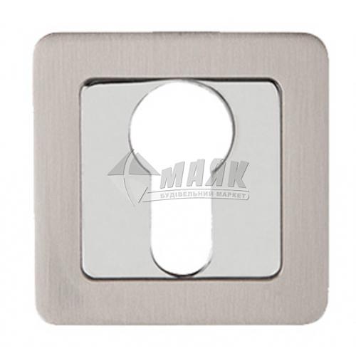 Накладка на циліндр квадратна Code Deco DP-C-22-NIS (UA) нікель матовий