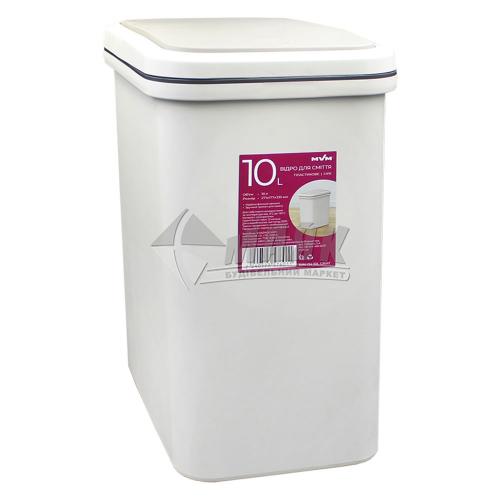 Відро для сміття MVM BIN-04 271×171×335 мм 10 л пластикове сіре
