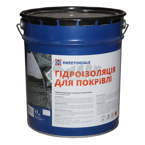 Мастика гідроізоляційна бітумна Sweetondale Для покрівлі 17 кг