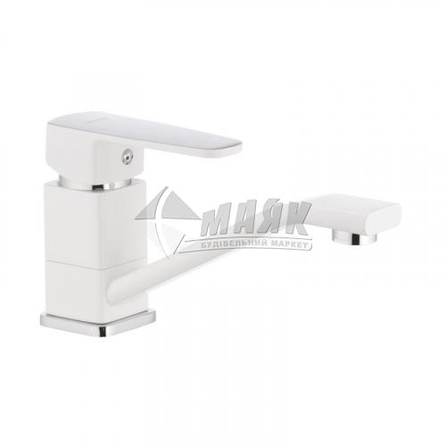 Змішувач для кухні MIXXUS Missouri 555 15 см (WHITE) одноважільний настільний білий