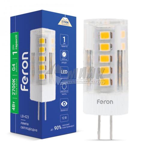 Лампа світлодіодна капсульна Feron 4Вт G4 2700°К 220В (LB-423)