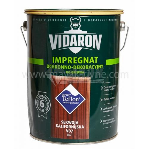 Захист для деревини Vidaron Impregnat 4в1 V07 9 л каліфорнійська секвоя