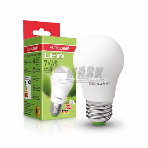 Лампа світлодіодна класична (груша) EUROLAMP 7Вт Е27 А50 3000°К (LED-A50-07273(D))