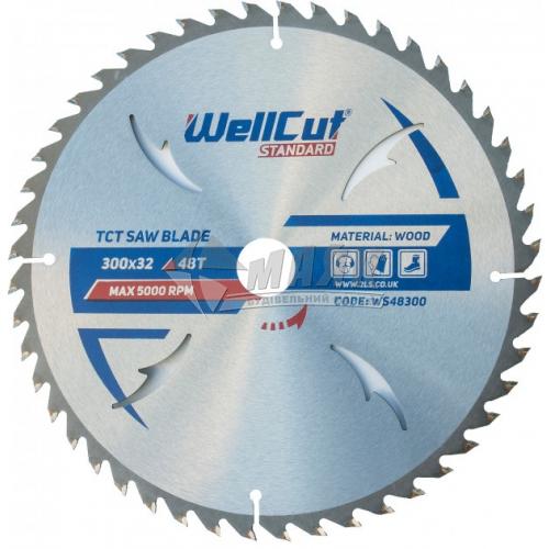 Диск пиляльний WellCut Standard 300×32 мм 48Т