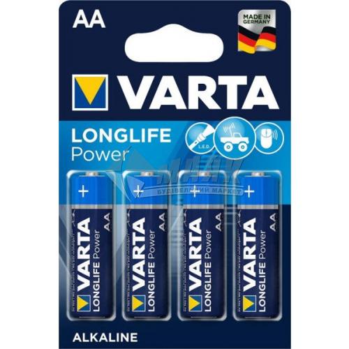 Батарейки VARTA Longlife Power AA Alkaline лужні 4 шт