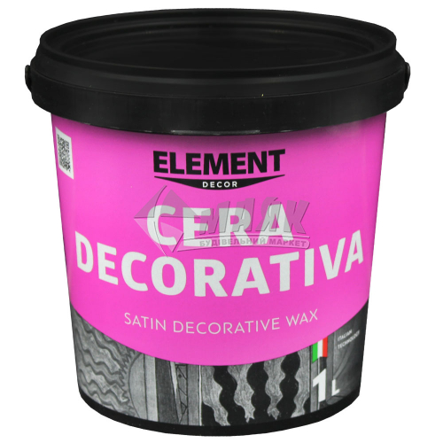 Віск для венеціанських штукатурок ELEMENT Decor Cera Decorativa шовковисто-матовий 1 л