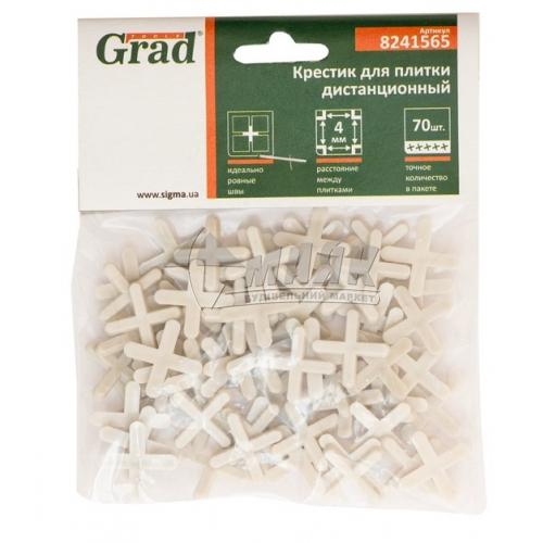 Хрестики дистанційні для плитки Grad 4,0 мм 70 шт