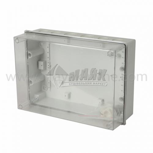 Корпус пластиковий навісний IEK КМПн 5/16 16 модулів з кришкою прозорий