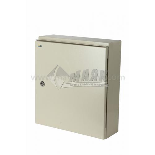 Щиток металевий навісний IEK ЩУ 3/1-1 12 модулів під трифазний лічильник IP54 з замком та вікном
