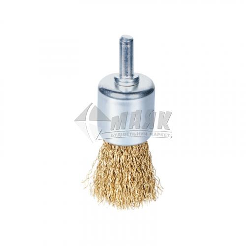 Щітка дротяна чашка SIGMA 24 мм з шпилькою гофрований латунний дріт