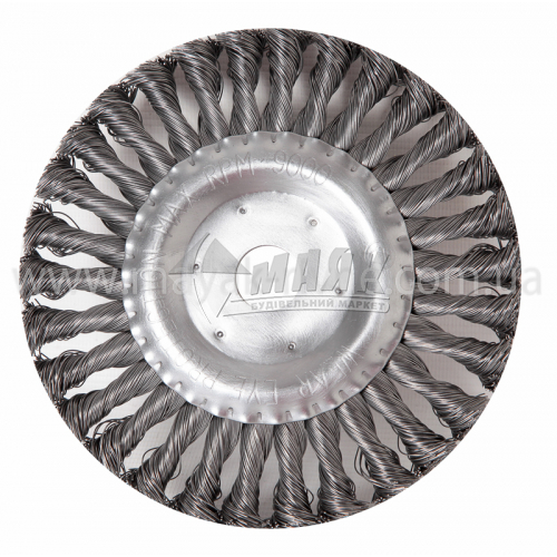 Щітка дротяна дискова SIGMA 150 мм плетений сталевий дріт