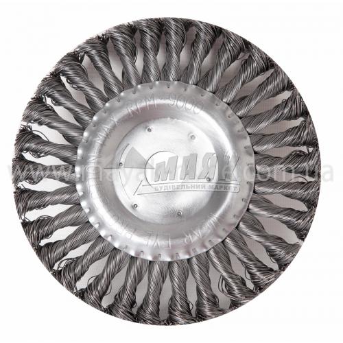 Щітка дротяна дискова SIGMA 178 мм плетений сталевий дріт