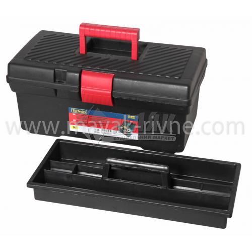 """Ящик для інструменту з лотком 16"""" 410×205×180 мм пластиковий"""