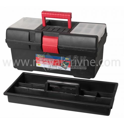 """Ящик для інструменту з лотком та органайзерами Master 16"""" 410×220×200 мм пластиковий"""