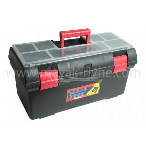 """Ящик для інструменту з лотком та ораганайзерами Master 22"""" 310×175×140 мм пластиковий"""