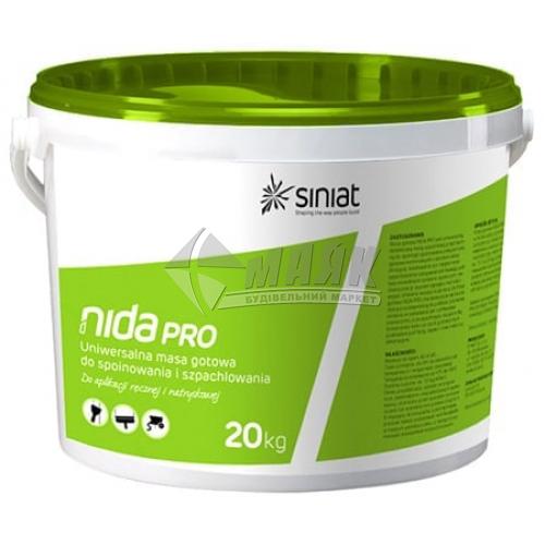 Шпаклівка доломітова Siniat Nida Pro універсальна інтер'єрна 20 кг