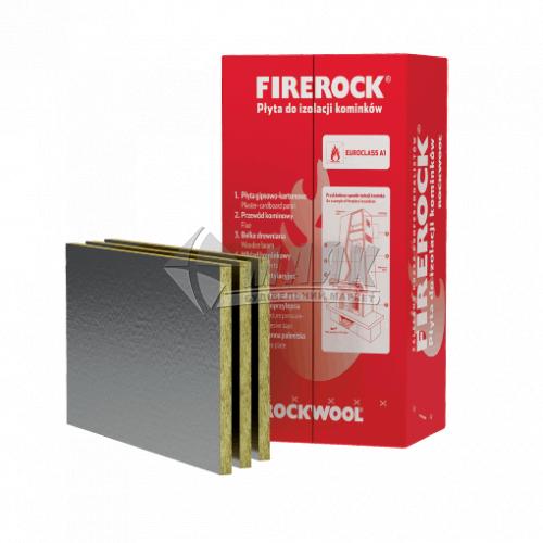 Вата мінеральна базальтова фольгована Rockwool FIREROCK 30 мм 80 кг/куб.м 6 кв.м