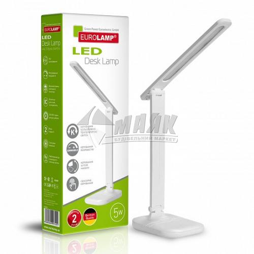 Лампа настільна світлодіодна EUROLAMP LED-TLG-1(white) 5Вт біла