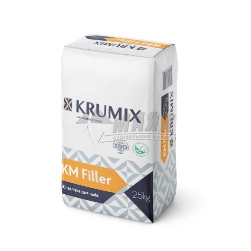 Шпаклівка гіпсова для гіпсокартонних швів KRUMIX KM Filler 25 кг