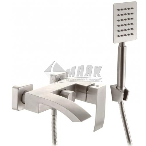 Змішувач для ванни MIXXUS AMA-009 (EURO) з душовим комплектом одноважільний настінний нержавіюча сталь