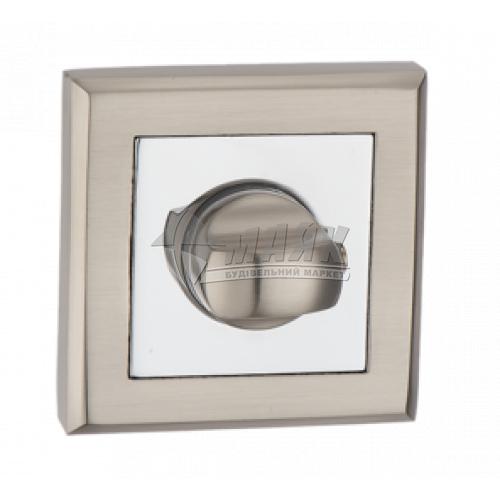 Фіксатор квадратний MVM WC T7 SN/PC нікель матовий/хром полірований