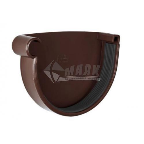 Заглушка ринви пластикова ліва NewWay 120 мм коричнева