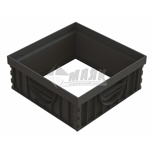Надставка для дощоприймача пластикова PolyMax Basic НДП-30.30.-ПП 8370-Н 4 шт чорна