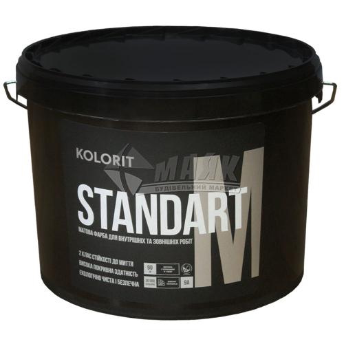 Фарба інтер'єрно-фасадна Kolorit Standart M акрилова 9 л біла глибокоматова