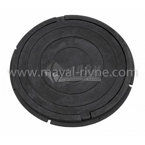 Люк каналізаційний полімерпіщаний садовий легкий тип ПЛ чорний
