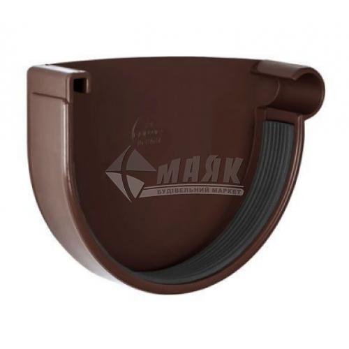 Заглушка ринви пластикова права NewWay 120 мм коричнева