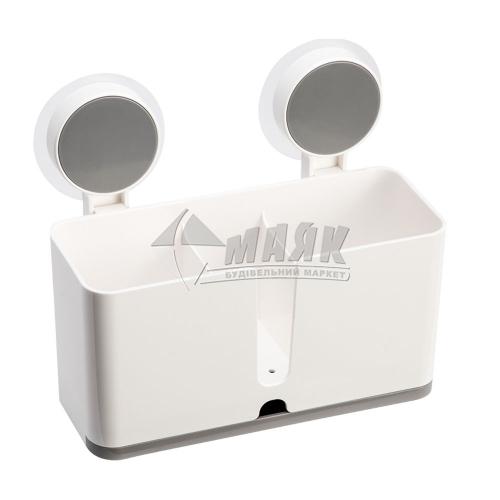 Полиця клейка глибока MVM BP-7 пластикова біла