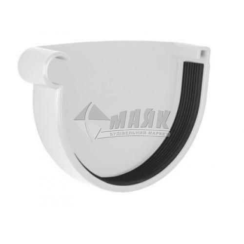 Заглушка ринви пластикова ліва NewWay 120 мм біла