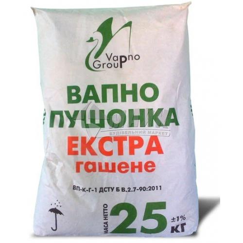 Вапно гашене гідратне пушонка Vapno Group 25 кг