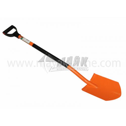 Лопата штикова трапецевидна 35810 металева ручка помаранчева