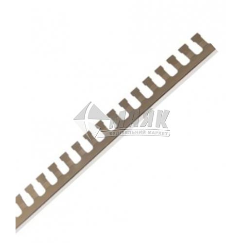 Профіль для плитки алюмінієвий АП10 ПАС-1186 2710 мм срібло матове