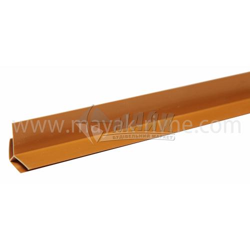Профіль монтажний ПВХ кут зовнішній 3 пог.м 8 мм темно-коричневий