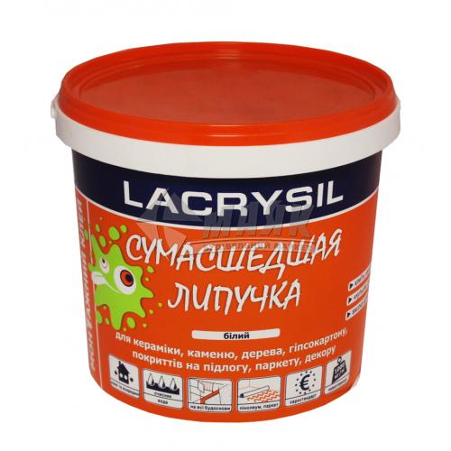 Клей монтажний (рідкі цвяхи) акрилові LACRYSIL Сумасшедшая Липучка 1,2 кг білий