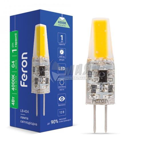 Лампа світлодіодна капсульна Feron 4Вт G4 4000°К 12В (LB-424)