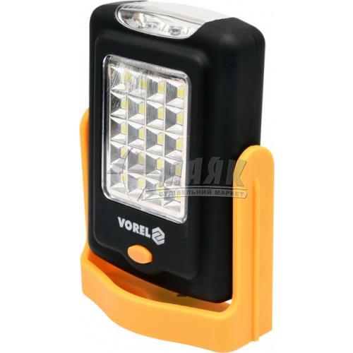 Ліхтар підвісний на батарейках VOREL 82730 20+3 LED з магнітом