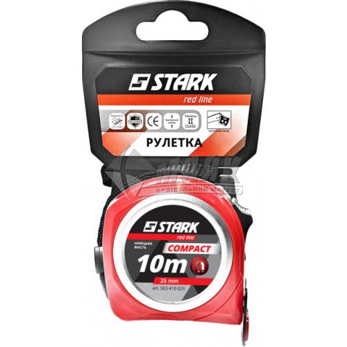 Рулетка Stark Compact пластиковий корпус 3 функції 10 м×25 мм з магнітом