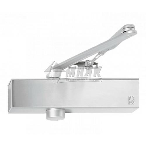 Доводчик дверний ECO-Schulte TS-11F 100 кг RAL 9006 срібний