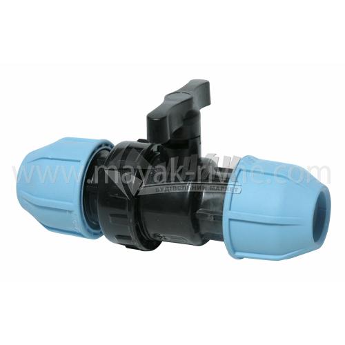 Кран кульовий для водопровідної труби VS Plast 25 мм